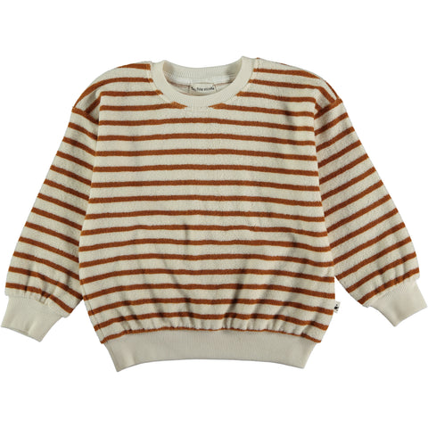 My Little Cozmo Peanut Stripe Kids Terry Sweatshirt