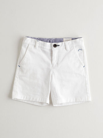 Nanos White Cotton Shorts