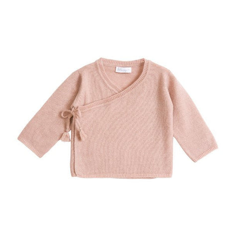 Belle Enfant Knit Rose Wrap Top