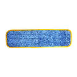 "Wholesalemop 18"" Wet/Dry Yellow Contour Microfiber Cleaning Pad"