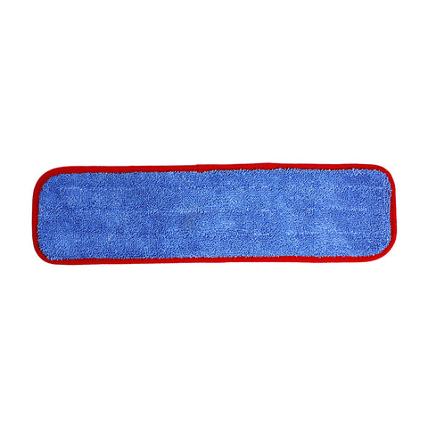 "Wholesalemop 18"" Wet/Dry Red Contour Microfiber Cleaning Pad"