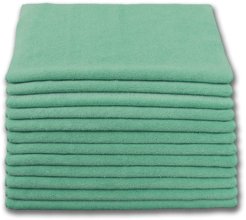 Microfiber Terry Cloth Green (12 pack)