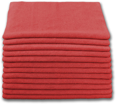 Microfiber Terry Cloth Red (12 pack)