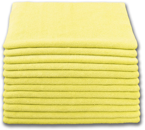 Microfiber Terry Cloth Yellow (12 pack)