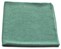 Microfiber Textured Glass Cloth Green (12 pack)
