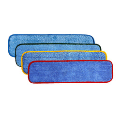 "Wholesalemop 18"" Wet/Dry Coloured Contour Microfiber Cleaning Pad (12 Pack)"