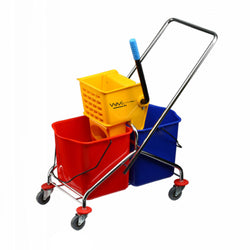 Wholesalemop 46L Double Bucket Mop Wringer Trolley