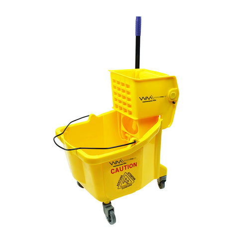Wholesalemop 36L Bucket Mop Wringer Trolley