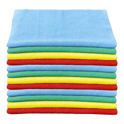 Microfiber Terry Cloth Assorted Colours (12 pack)