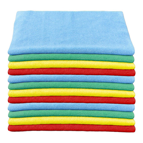 Microfiber Terry Cloth Assorted Colours (100 pack)