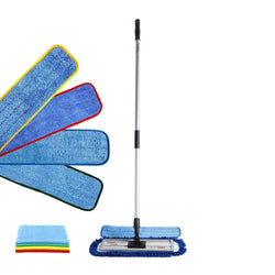 "Wholesalemop 18"" Premium Color-Coded Microfiber Mop Kit"