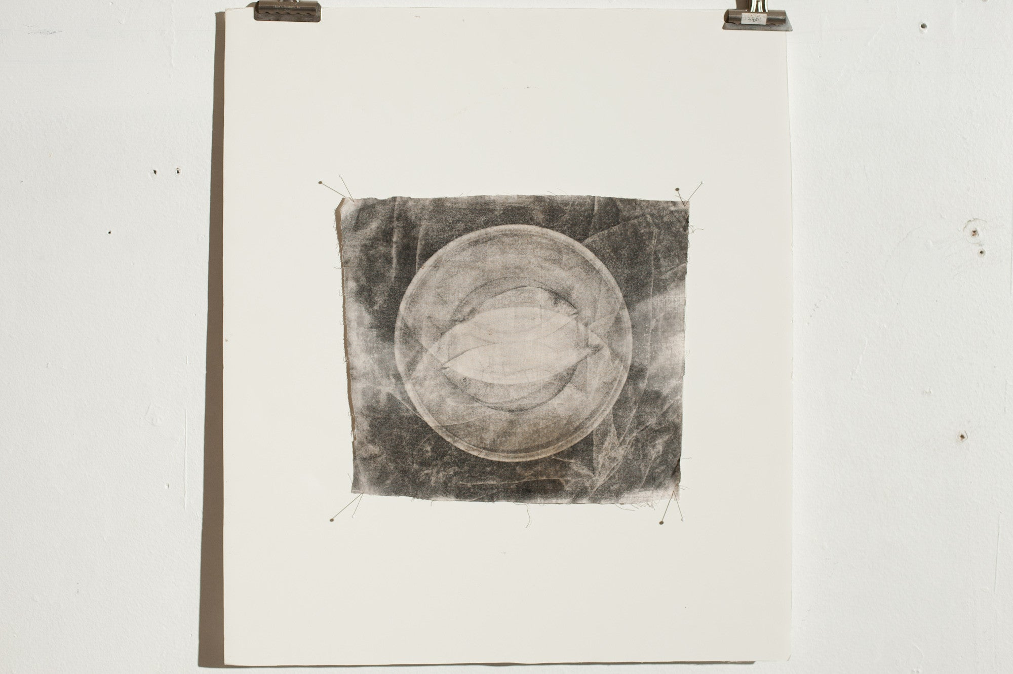Ben Pearson - Fish On A Plate - Analog Printed on Linen