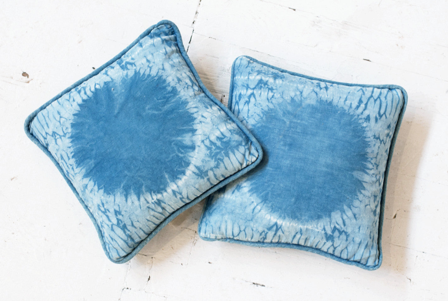 Handmade Natural Indigo Dyed Shibori Pillows