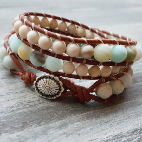 Grounded Triple Wrap Bracelet