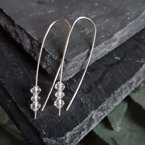 Sterling and Quartz Earring