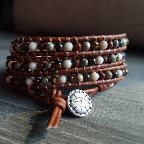 Earth Tone Leather Wrap