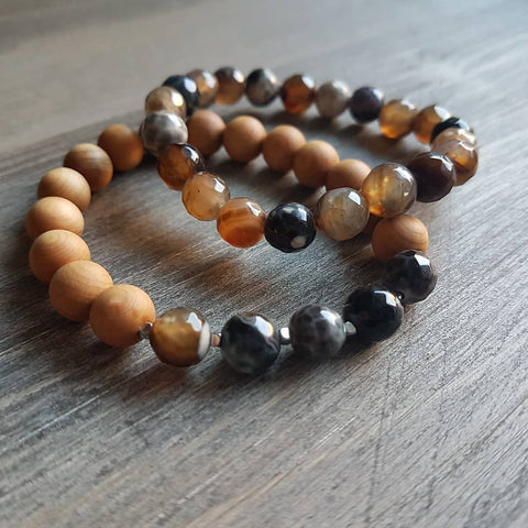 Fire Agate Stacker Set
