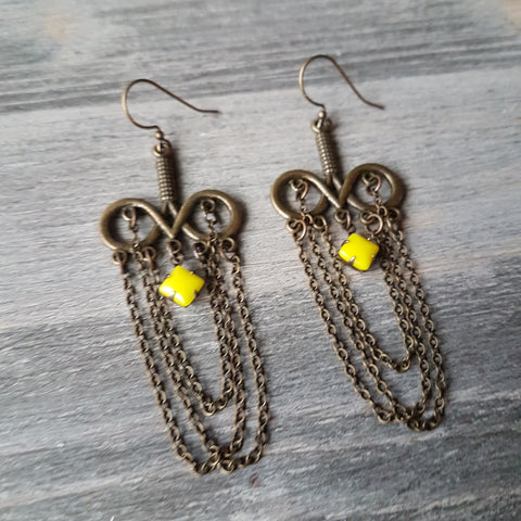 Layered Chain Sunshine Earring