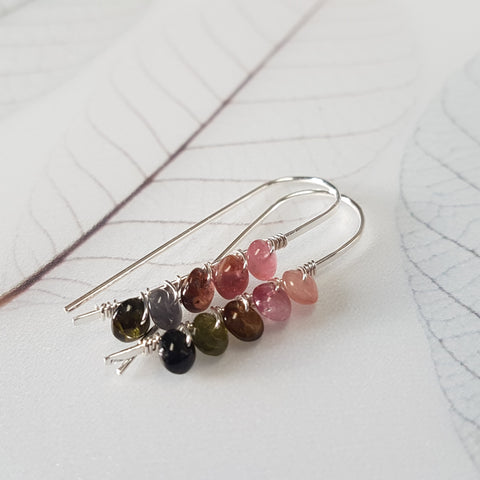 Tourmaline Sterling Silver Earrings