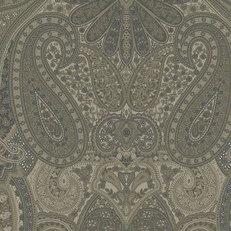 Windham Country Soiree Green Paisley Reproduction # 52069-2