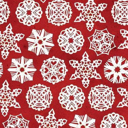 Snow Sweet Paper Snowflakes Red # C9668R-RED