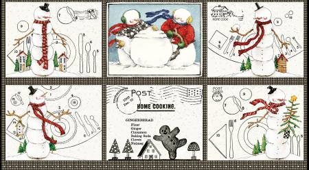Snow Sweet Placemat Panel 24in # P9663R-PANE