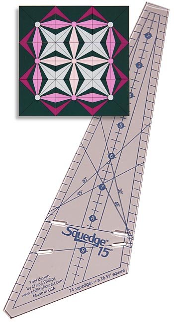 Squedge 15 degree Ruler