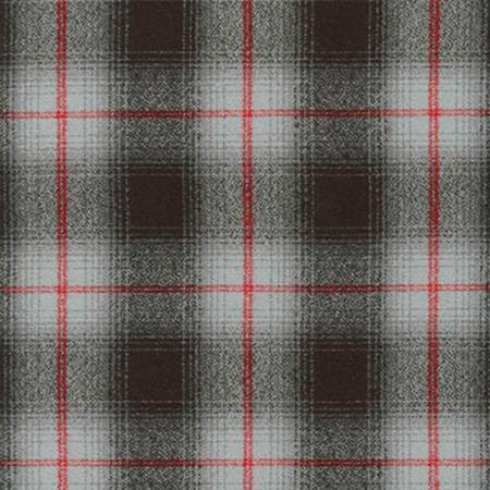 Robert |Kaufman Grey Plaid Mammoth Flannel # SRKF1487912