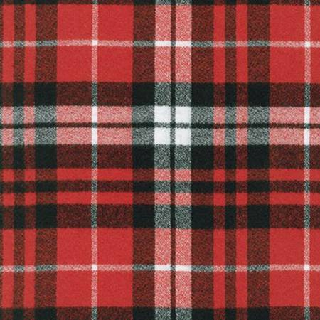 Robert Kaufman Scarlet Plaid Mammoth Flannel # SRKF1490093