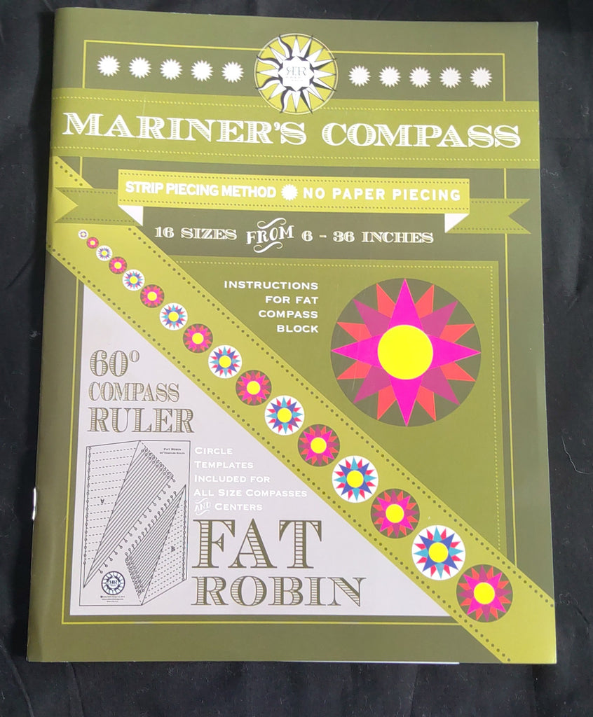 "Mariner's Compass ""Fat Robin""with 60 Degree Compass Ruler"