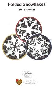 "Folded Snowflakes 10"" Diameter Pattern"