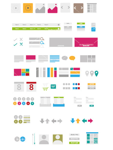 [VECTOR] Elements and Graphics for Quick Web Design