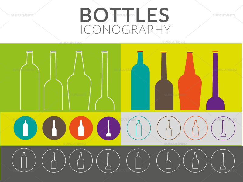 [VECTOR] Bottles Iconography