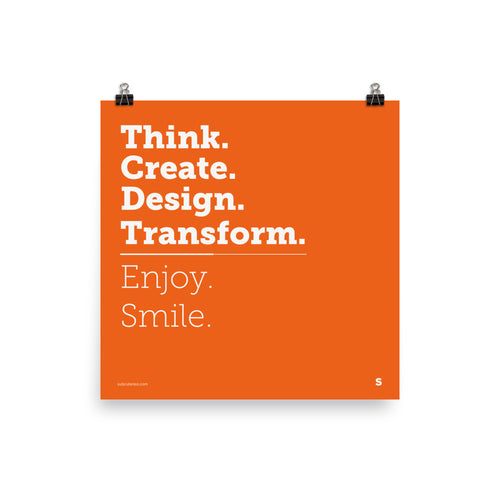 [POSTER] Think. Create. Design. Transform
