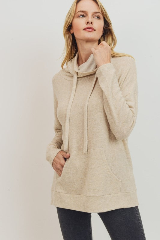 Time to Get Cozy Tunic in Oatmeal