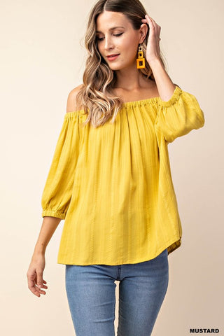 So Chic Top in Mustard