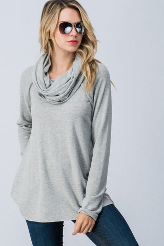 Laid Back Tunic in Heather Grey
