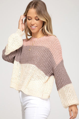 Falling in Love Block Sweater