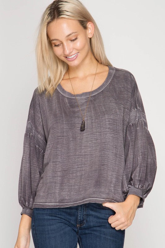 Cozy-Cute Mineral Washed Top