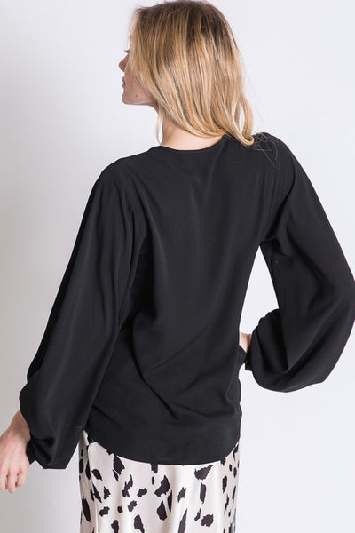 Make a Statement Top in Black