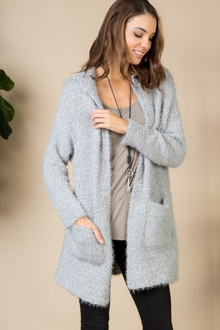 Cozy and Cuddly Cardigan in Grey