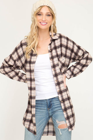 Fall Flannel in Taupe