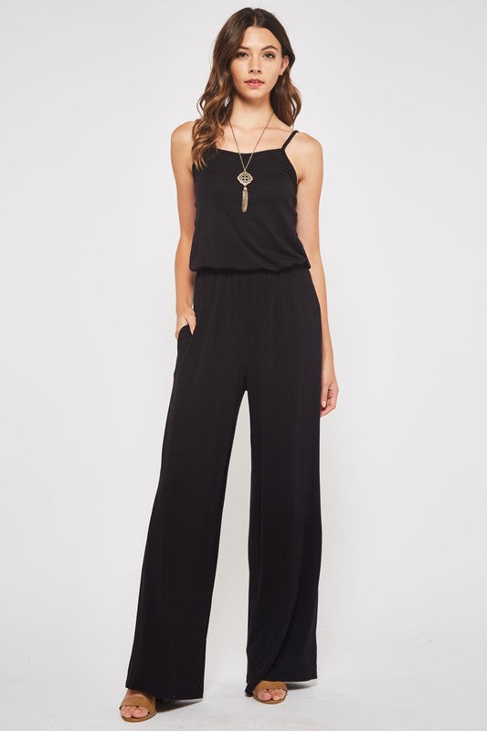 Positive Vibes Sleeveless Jumpsuit