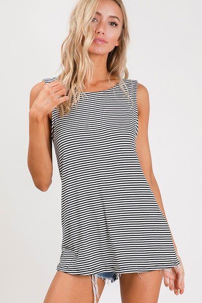 Cut It Out Striped Top