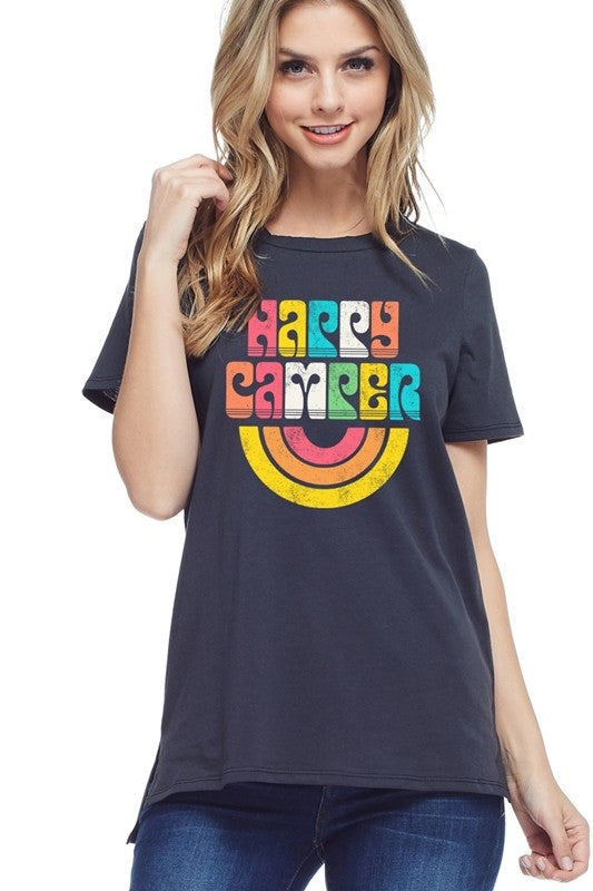 Colorful Happy Camper Tee