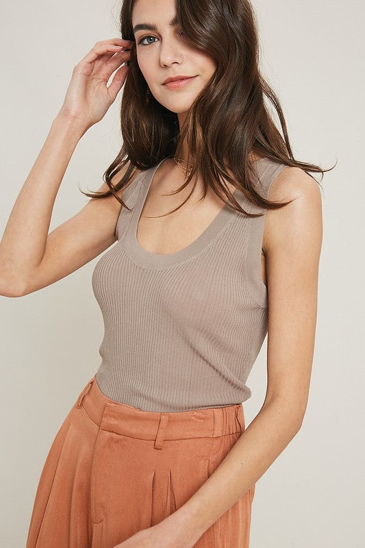 The Softest Tank Ever in Mocha