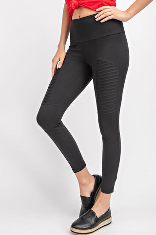 Butter Moto Leggings in Black