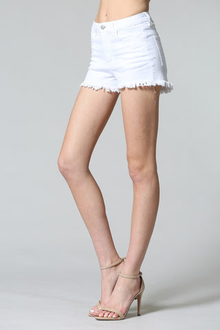 White Denim Cutoffs