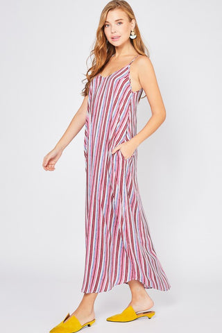 Sunset Striped Maxi
