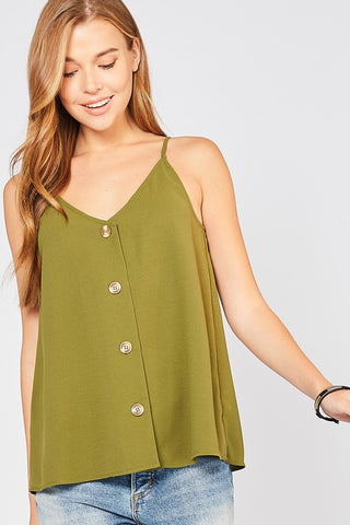 Free Spirit Button Down in Olive